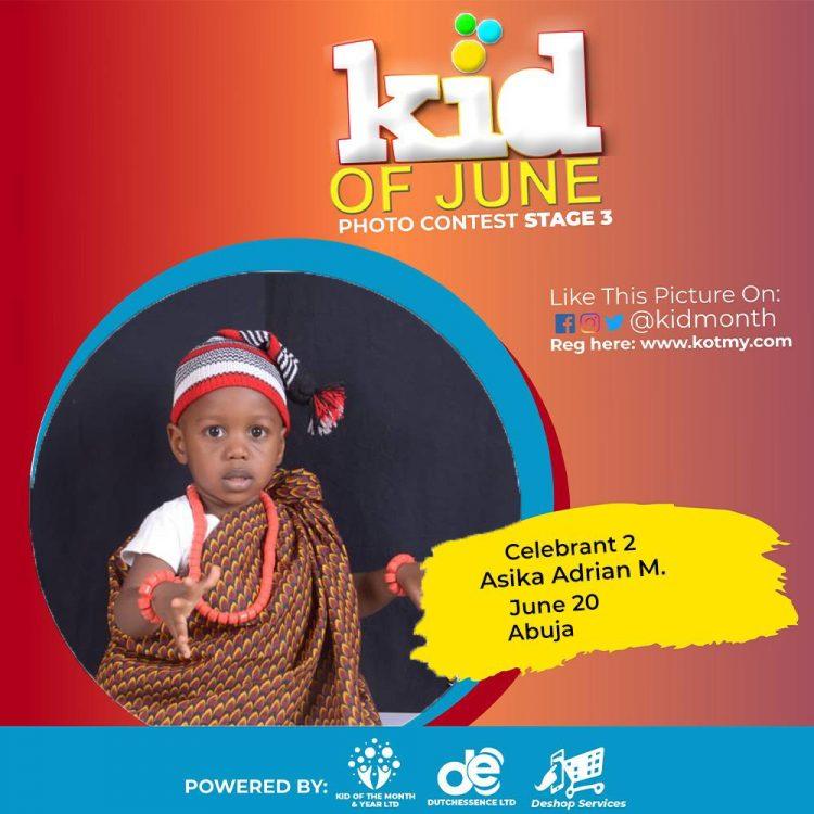 Top 3 Winners In Kid Of June 2021 Contest