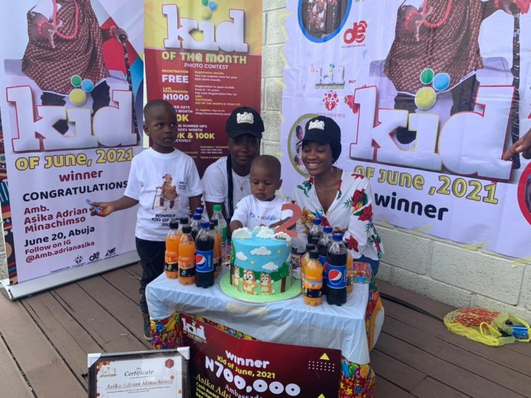 Celebration Of The Winner Of Kid Of June 2021