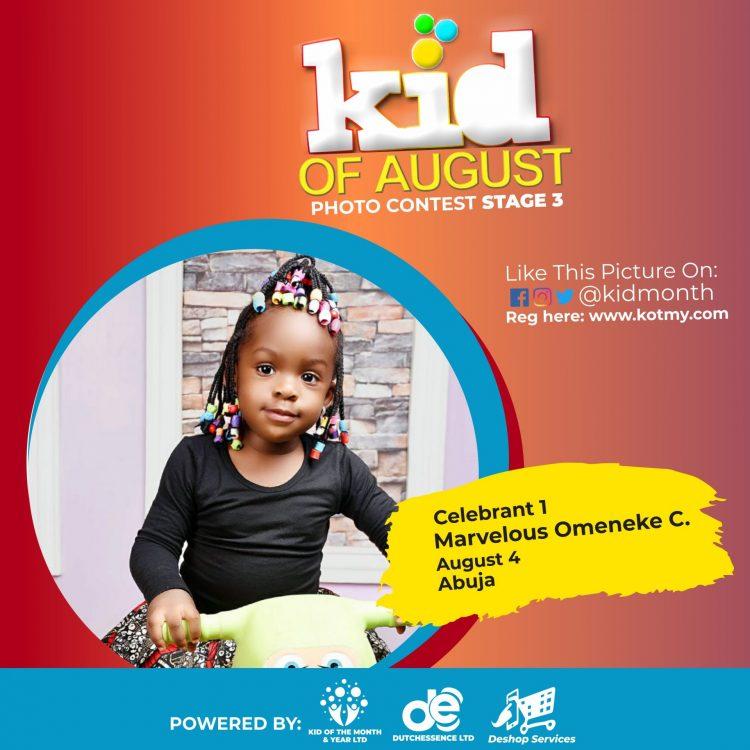 Top 3 Winners In Kid Of August 2021 Contest